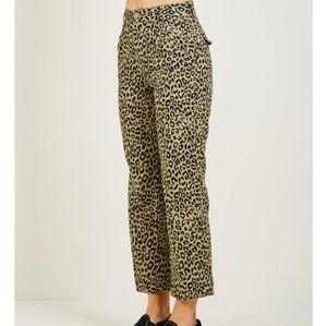 Obey Leopard Pants NWT